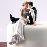 Wedding Couple Staring in Love Cake Topper
