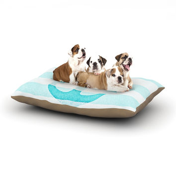 "Monika Strigel ""Stone Vintage Aqua Anchor"" Dog Bed"