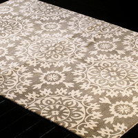 One Kings Lane - The Complete Bedroom - Starburst Rug, Ivory/Gray
