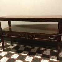 Solid Wood/Leather Sofa Table
