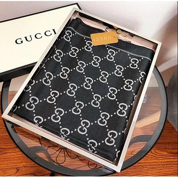 Gucci Hot Sale Women Men Fashion Silk Sunscreen Cape Scarves Scarf Accessories