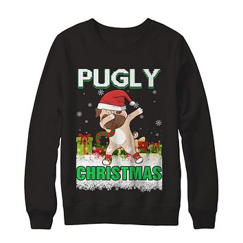 Dabbing Pug Claus Pugly Christmas Ugly Sweater Christmas