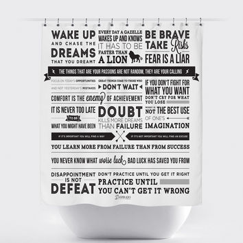 Inspirational Fabric Shower Curtain