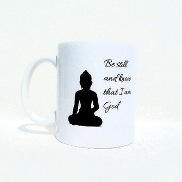 Custom mug, buddha coffee mug, personalized mug, quote mug, buddha art, travel mug, christmas gift, tea cup, buddha quote, spiritual quote