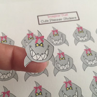 Shark Week Period Tracker Planner Stickers for Erin Condren