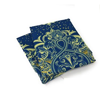 Tache 2 Piece Star Gazing Blue Luxurious Fancy Pillowcase (TA2133-PC)