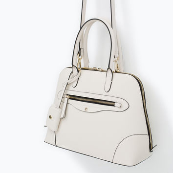 City bag with zip detail