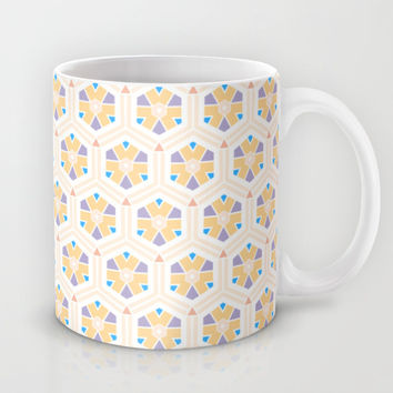 Abstract Geometric Kids Pattern Mug by Cinema4design