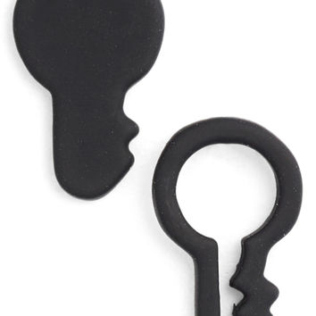 MARC JACOBS 'Key Outline' Stud Earrings