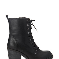 FOREVER 21 Lace-Up Combat Boots