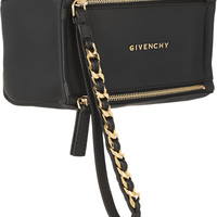 Givenchy - Small Pandora wristlet bag in black coated canvas