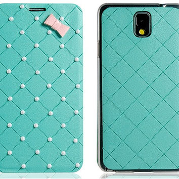 Beads Faux Leather Case for Samsung Galaxy Note 3