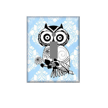 Owl Light Switch Cover in Your Choice of Colors
