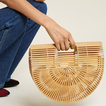 Some Sunny Day Bamboo Cage Bag