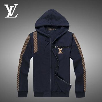 DCCKNY1Q Boys & Men Louis Vuitton Cardigan Jacket Coat Hoodie