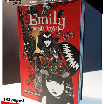 All Things Strange &  Emily The Strange by Rob Reger Buzz Parker Black Cats Kitties Stranger Comics Graphic Novel