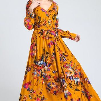 Shadow Play Floral Maxi Dress