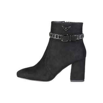 Laura Biagiotti Black Side Zip Suede Ankle Boots