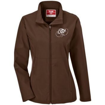 Cloud White OBX Lyfe Ladies' Soft Shell Jacket in 16 Colors