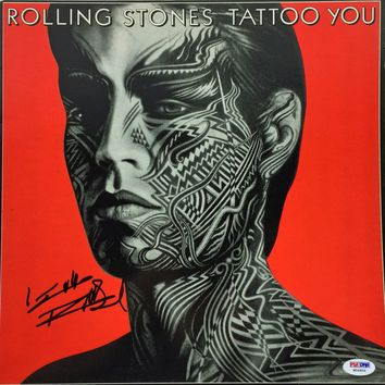 "Keith Richards Signed Autographed ""Tattoo You"" Rolling Stones Record Album (PSA/DNA COA)"