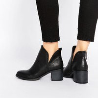 New Look Cut Out Ankle Boot at asos.com