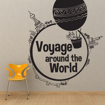Vinyl Wall Decal Sticker Voyage Around the World #OS_DC564