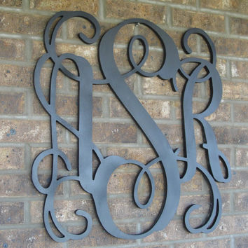 Large Monogram, Painted Monogram,  Wood Monogram, Monogram Door, Door Monogram, Wedding Monogram, Nursery Monogram, door hanger,
