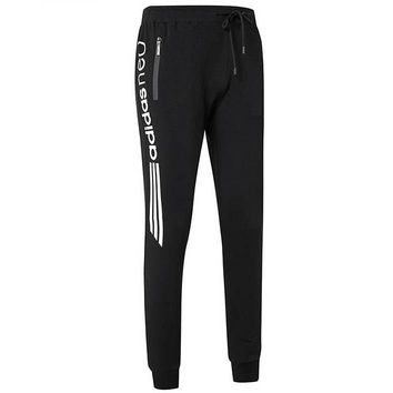 ADIDAS 2018 autumn and winter new men's loose plus velvet casual sweatpants black