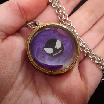Floating pokemon gastly necklace, made to order