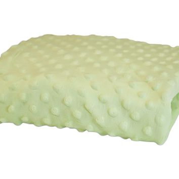 Rumble Tuff Kit Minky Dot Contour Standard Mint Green Changing Pad Cover
