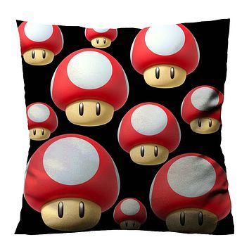 SUPER MARIO TOAD FACE 1 Cushion Case Cover