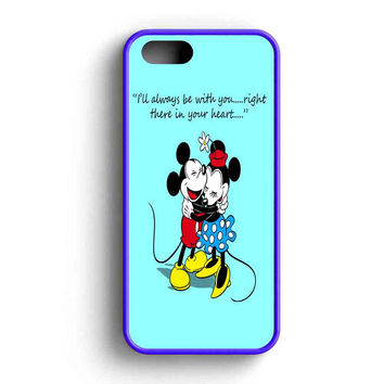 Mickey And Minnie Mouse Falling In Love  iPhone 5 Case iPhone 5s Case iPhone 5c Case
