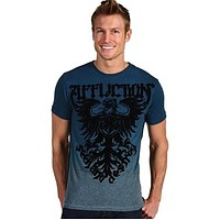 Affliction Employ Mens Tee Shirt Pacific Blue