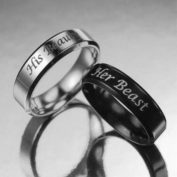 His Beauty & Her Beast Rings