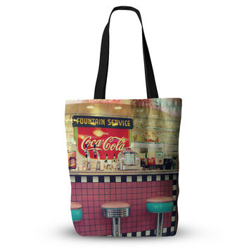"Sylvia Cook ""Retro Diner"" Coca Cola Everything Tote Bag"