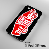 Logo Vans Off The Wall Shoes Red A1330 iPhone 4 4S 5 5S 5C 6, iPod Touch 4 5 Cases