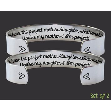 I'm Perfect Mother Daughter Bracelet Set