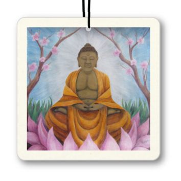 Buddha - Air Freshener of Acrylic Paint and Watercolor Pencil Fine Art