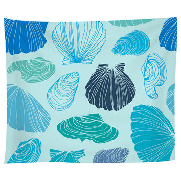 Turquoise Shells Tapestry