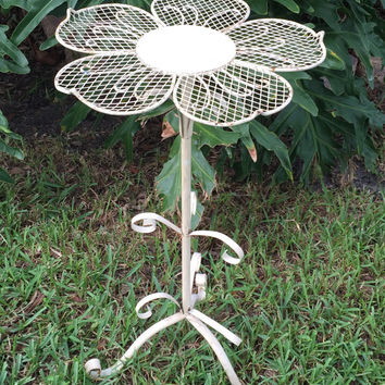 Wrought Iron Plant Stand/Occasional Table Flower Top