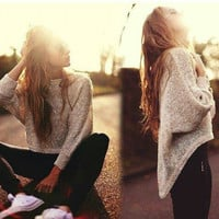 Winter Knit Irregular Sweater [9600182607]