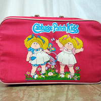 Vintage 1983 Cabbage Patch Kid Travel Suitcase Luggage