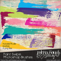 Photoshop Brushes Paint Swipe Digital Stamps Clip art - abr brushes and pngs