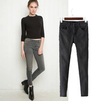 Women's Fashion High Rise Stretch Jeans Skinny Pants [4919014980]