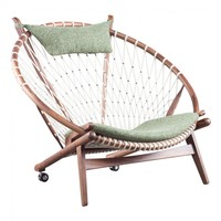 NET LOUNGE CHAIR - GREEN FABRIC