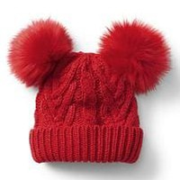 Cable knit pom-pom beanie | Gap