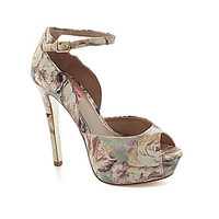 Betsey Johnson Angelick Peep-Toe Pumps - Floral/Multi