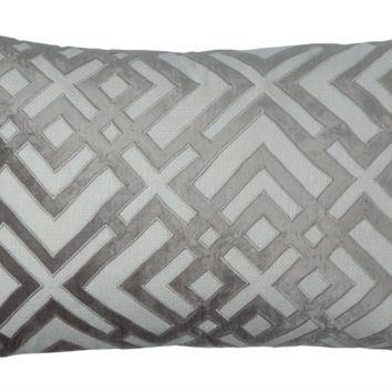 Karl Platinum Large Rectangle Pillow by Lili Alessandra