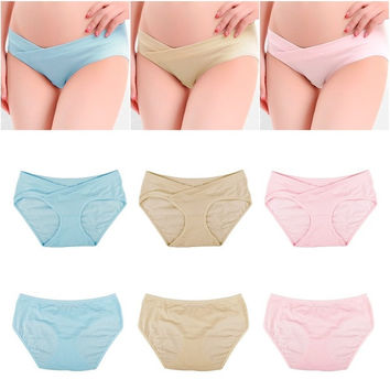 Pregnant Women Maternity Shorts Underwear Underpant Panties Lady Helper Panties = 1946588868