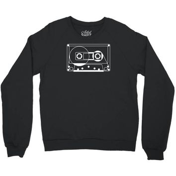 audio cassette 80's 90's party hip hop nostalgia retro Crewneck Sweatshirt